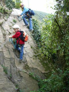 Fixed rope route in Boppard